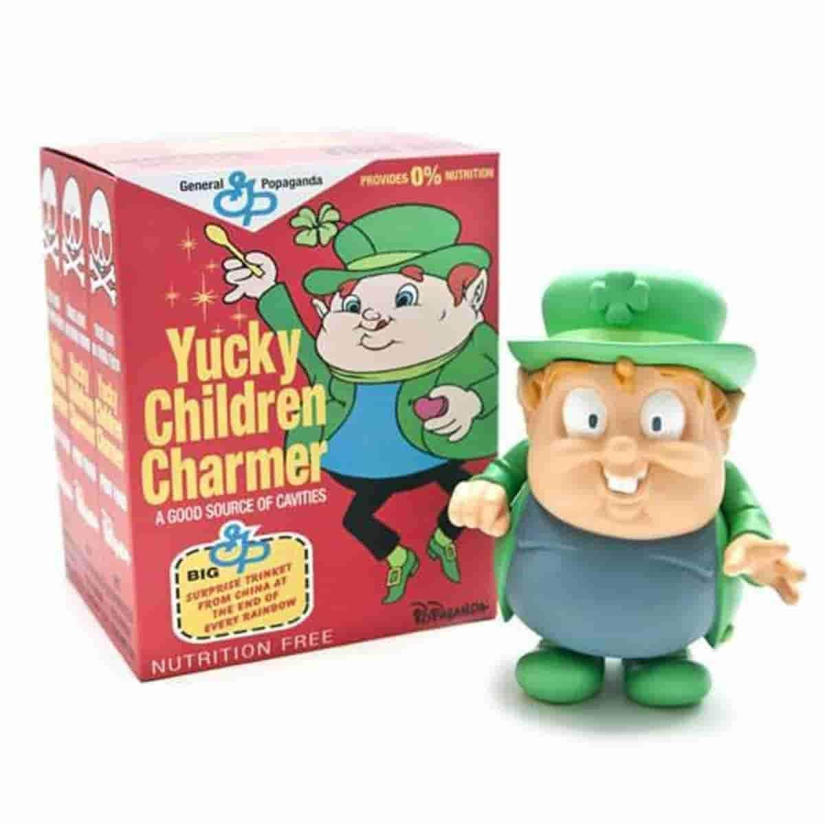 Yucky Children Charmer Cereal Killers by Ron English - IamRetro.com