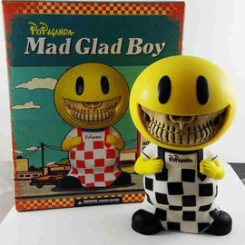 Mad Glad Boy Grin Checkmate Version Rare Medium Soft Vinyl Art Figure by Ron English Popaganda