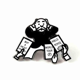 "Mr. Money Bags Inherit Monopoly Inspired "" Enamel Pin by Phantom Pins"
