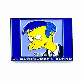 Voice of C. Montgomery Burns Simpsons 1.25 Enamel Pin by Phantom Pins