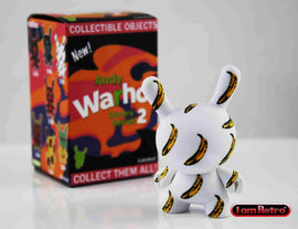 "Banana Pattern 3"" Mini Figure - Andy Warhol Dunny Mini Series 2 by Kidrobot - IamRetro"