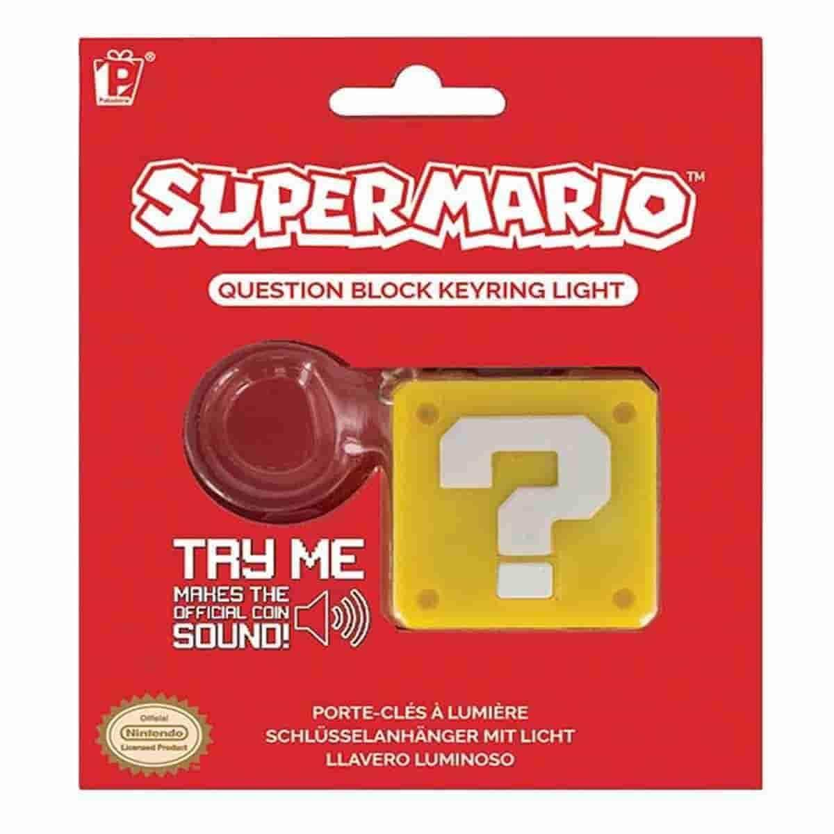 Nintendo NES Super Mario Bros. Question Block Keychain - IamRetro.com