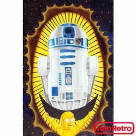 Virgin Of Naboo R2D2 Star Wars Inspired Gallery Wrapped Canvas Print 12X16 By Jessejfr