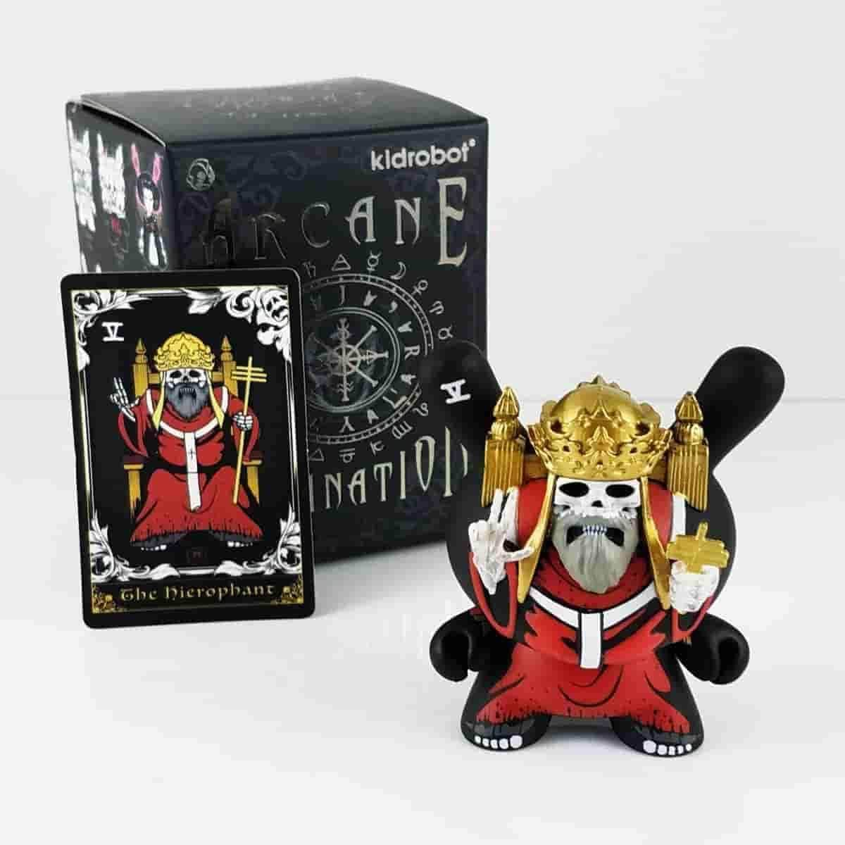 The Heirophant Red Arcane Divination Dunny Series by Kidrobot - IamRetro.com