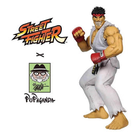 "Ryu Grin 15"" Vinyl Figure by Ron English Popaganda x Street Fighter"