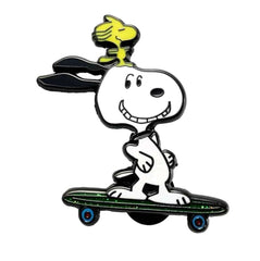 Snoopy and Woodstock Skateboarding Enamel Pin by Phantom Pins