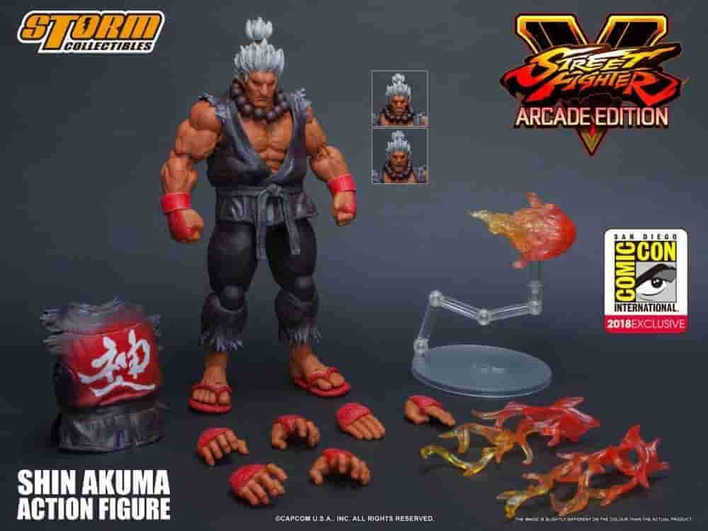 Shin Akuma SDCC 2018 Con Exclusive Limited Release Storm Collectibles - IamRetro.com