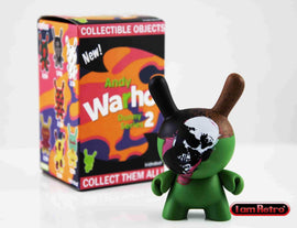 "Skull 3"" Mini Figure - Andy Warhol Dunny Series 2 by Kidrobot"