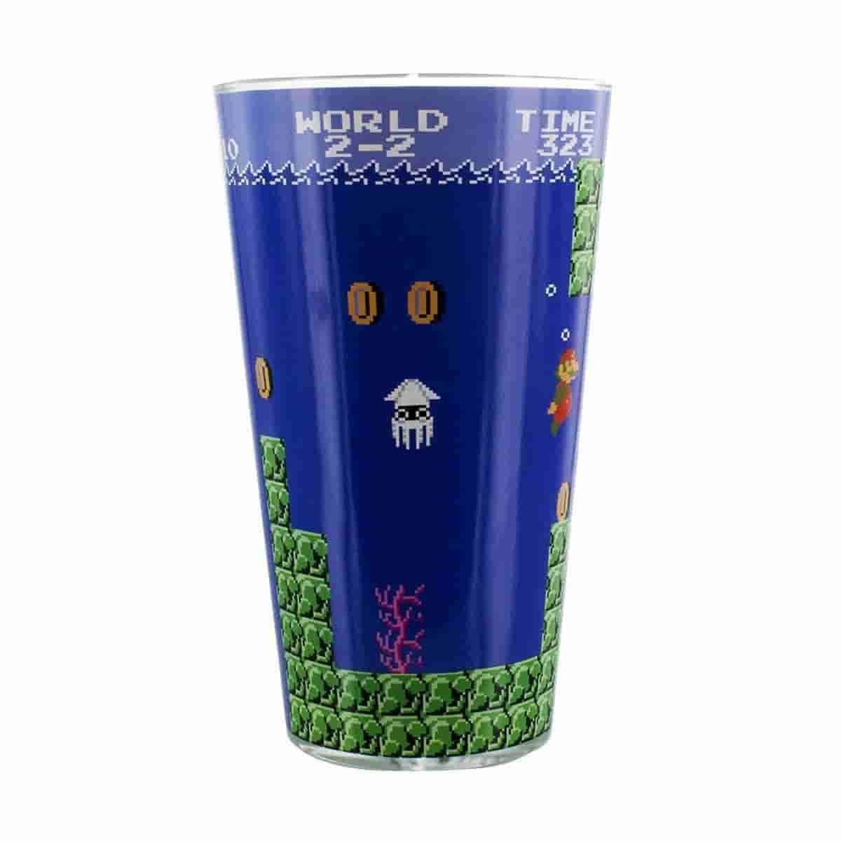 Super Mario Bros. Pint Glass World 2-2 Official Nintendo