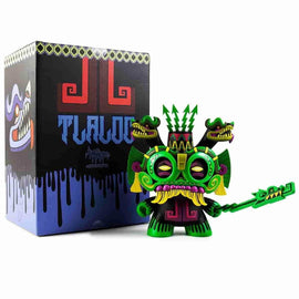 "Jungle Green TLALOC God of Rain 8"" Kidrobot Dunny by Jesse Hernandez Urban Aztec x IamRetro - iamRetro.com"