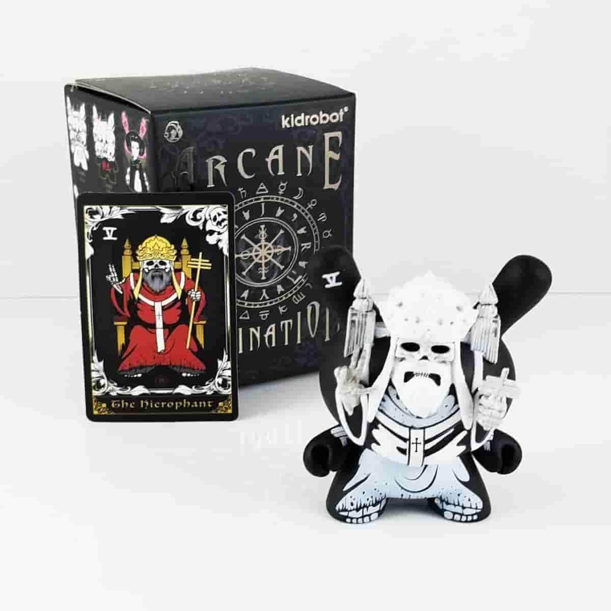 The Heirophant White Arcane Divination Dunny Series by Kidrobot - IamRetro.com