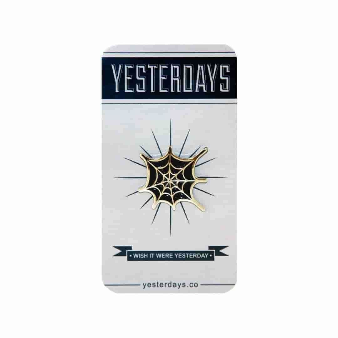 Yesterdays - Black Web - Pin - IamRetro.com