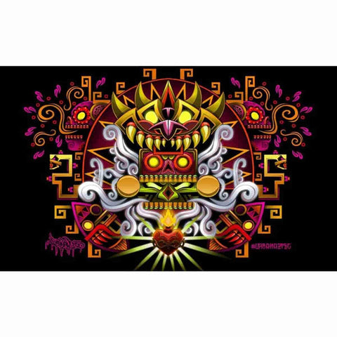Death Song 11x17 Art Print Print Signed by Jesse Hernandez (Urban Aztec) - iamRetro.com
