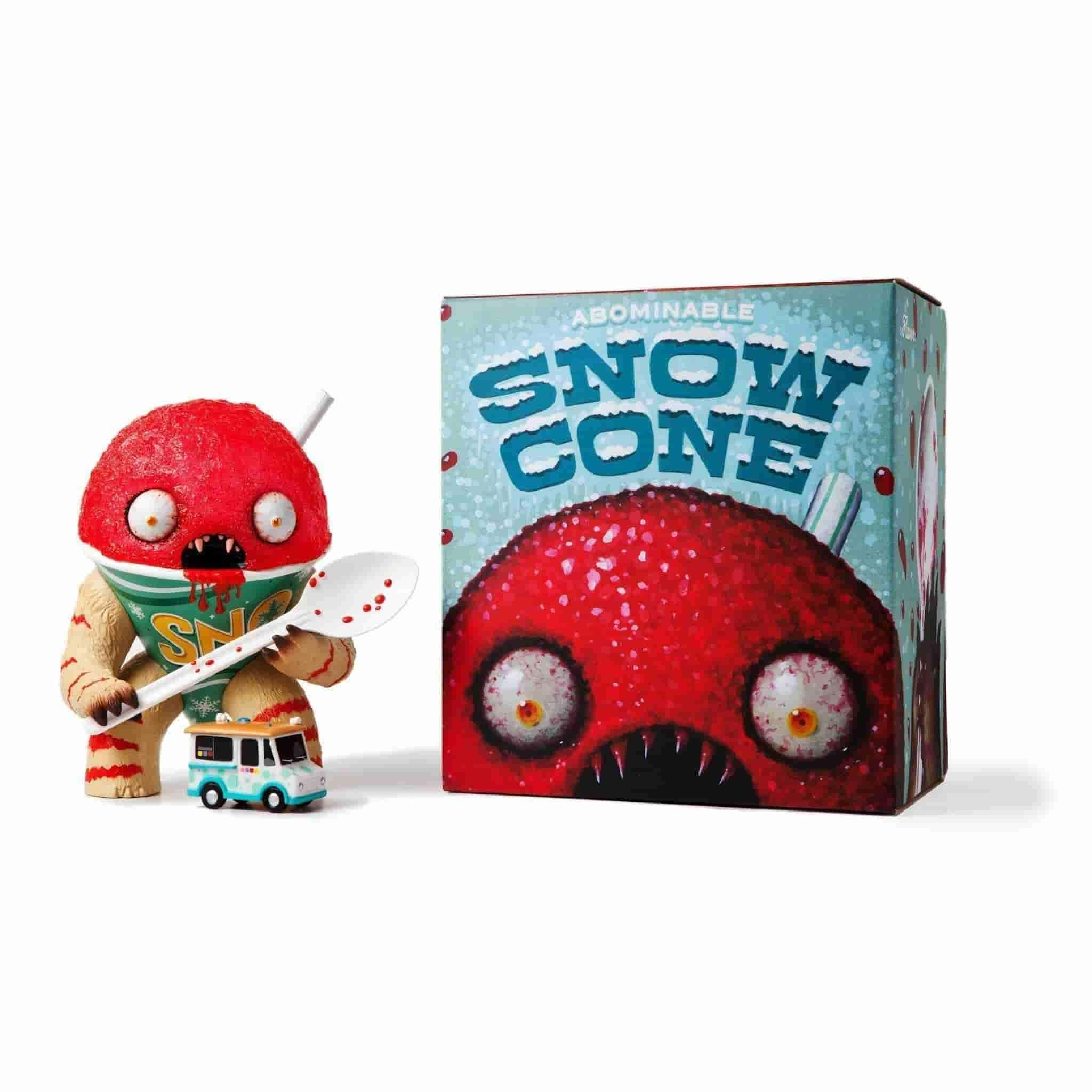 The Abominable Snow Cone (Cherry) by Jason Limon x Martian Toys - IamRetro.com