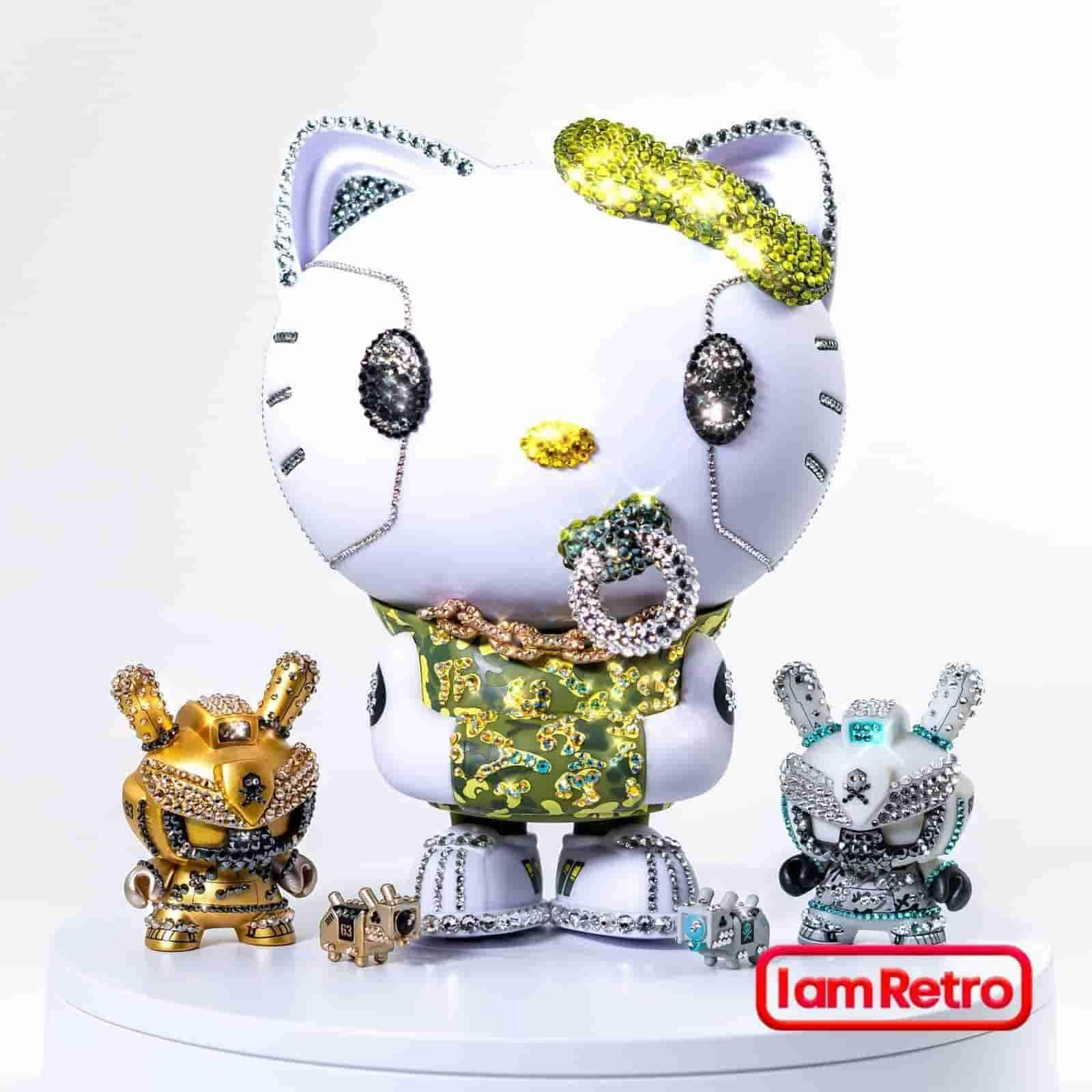 Crystal Grey Baby TEQ 63 Dunny by Quiccs Official Swarovski Edition of 38 - IamRetro