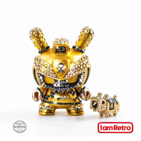 Crystal Gold Baby TEQ 63 Dunny by Quiccs Official Swarovski Edition of 17 - IamRetro