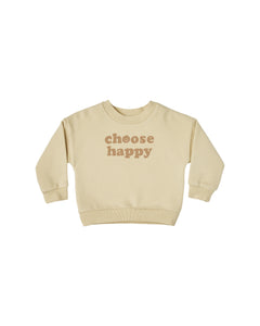Rylee + Cru Choose Happy Crew Neck Sweatshirt