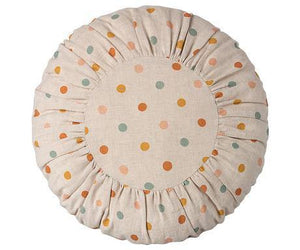 Maileg Round Cushion - Large Multi Dots, Children's Accessories - turquoise, llc