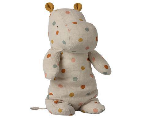 PREORDER Maileg Safari Friends, Medium Hippo - Multi Dot