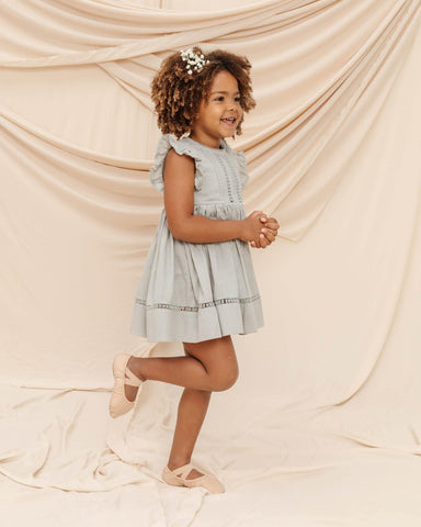 Noralee Isla Dress - Blue, Children's Dress - turquoise, llc