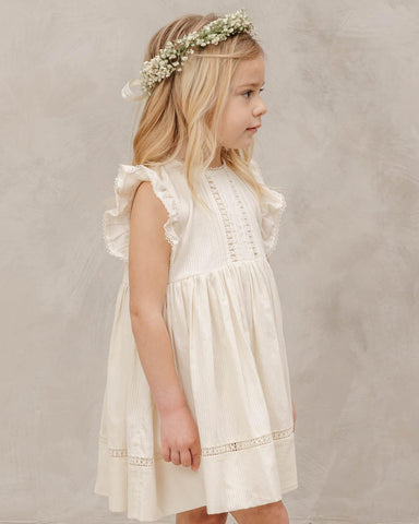 Noralee Isla Dress - Ivory, Children's Dress - turquoise, llc