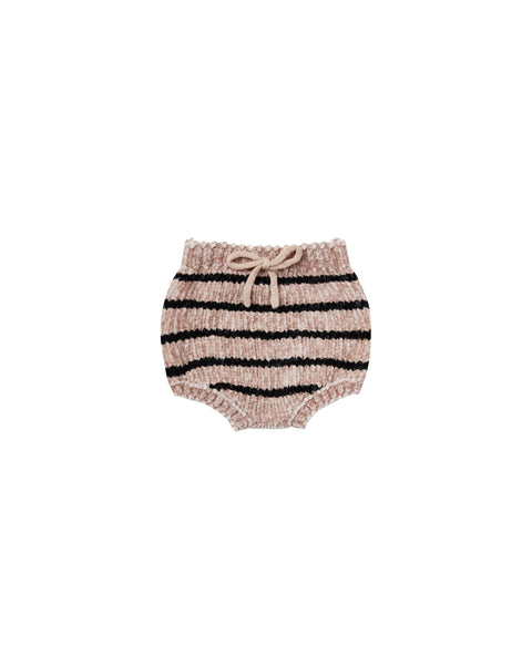 Rylee + Cru Striped Chenille Bloomer, Children's Bottoms - turquoise, llc