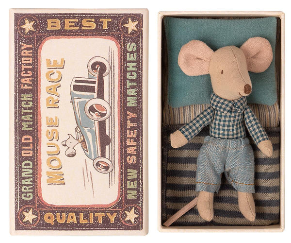 Maileg Little Brother Mouse in Matchbox, Children's Accessories - turquoise, llc