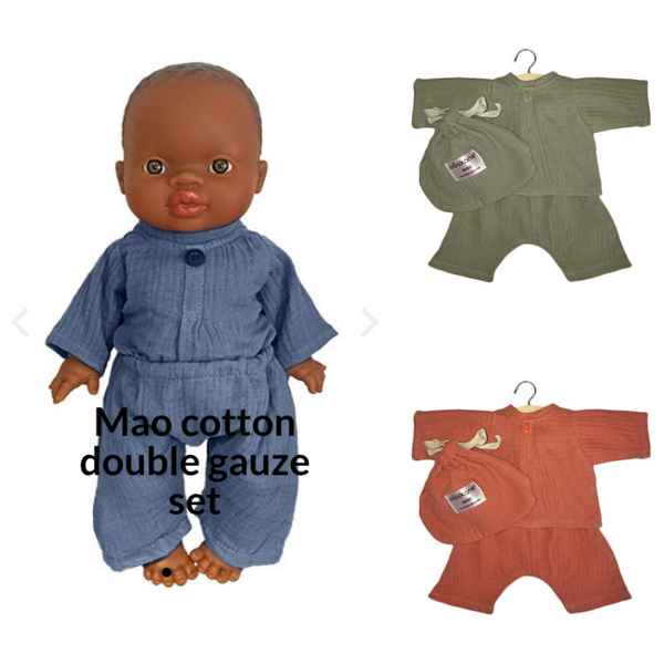 Minikane Ensemble Mao en Coton - Cotton Set
