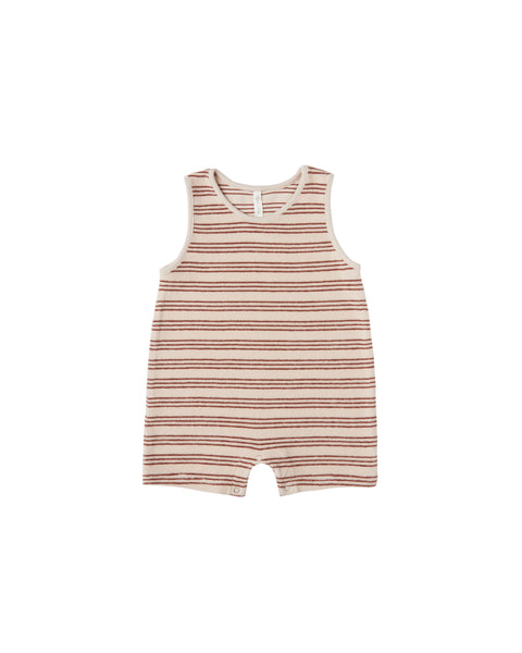 Rylee + Cru Striped Sleeveless One Piece Romper