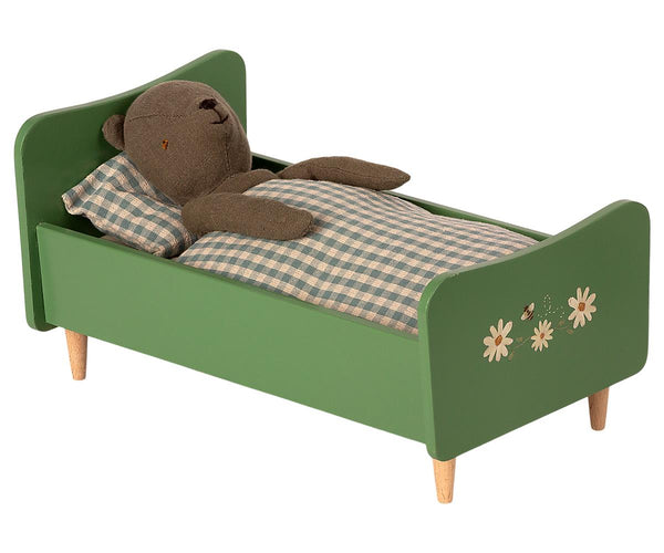 PREORDER Maileg Wooden Bed, Teddy Dad - Dusty Green, Children's Accessories - turquoise, llc