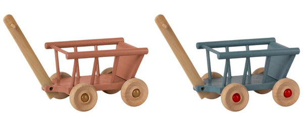 PREORDER Maileg Wagon - Blue or Dusty Rose