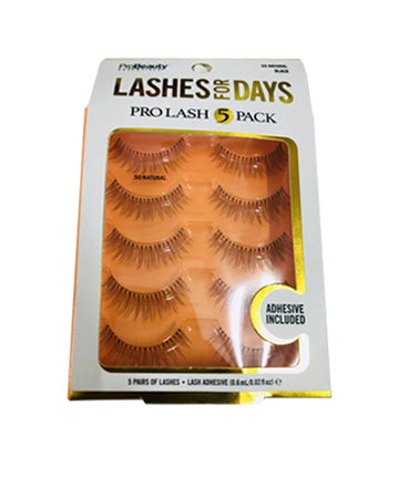 1e6cdbd206a Pro Beauty Lashes for days Pro lash 5 pack – Wesley Store
