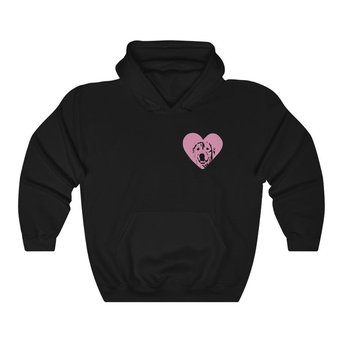 Custom Dog Silhouette Heart Hoodie (1 Dog Only)