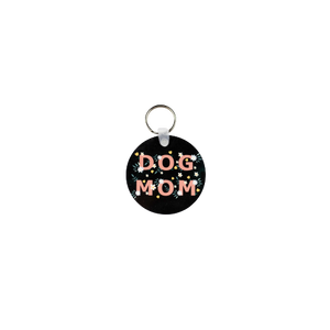Dog Mom Floral Key Chain