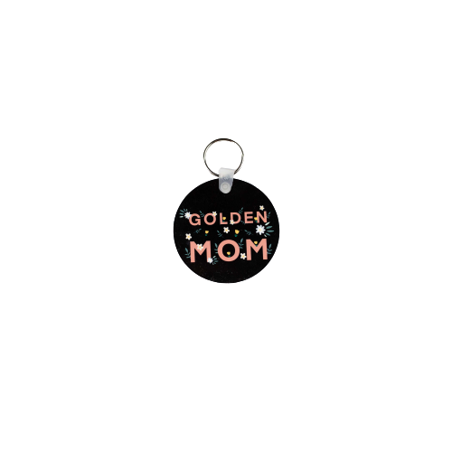 Golden Mom Floral Key Chain
