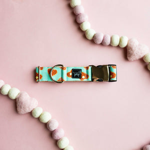 Waffle You A Lot- Eco Canvas Collar (Mint)