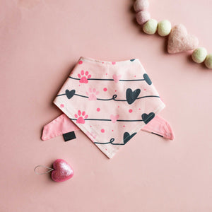 Sweetheart Paws Cotton Bandana