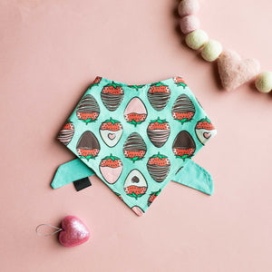 Chocolate Strawberry Cotton Bandana