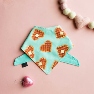 I Waffle You A Lot Cotton Bandana (mint)