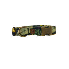 "Load image into Gallery viewer, Tropics | 1"" Antique Gold Buckle Extra Large Fits 18""-30"" 