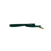 Load image into Gallery viewer, Hunter Green Sisu Biothane Leash | Antique Brass Hardware | Ready to ship
