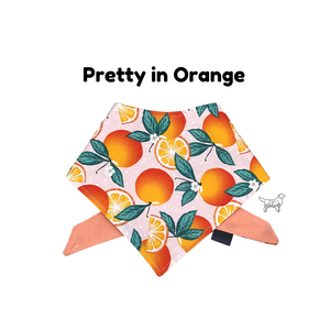 Pretty in Orange Cotton Bandana