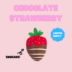 Chocolate Strawberry Plush Toy