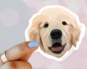 Golden Retriever Puppy Vinyl Sticker