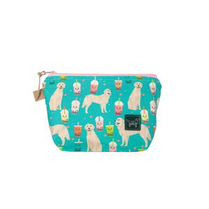 Dog Print Stand Up Pouch | Golden Boba | Ready to ship