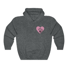 Load image into Gallery viewer, Custom Dog Silhouette Heart Hoodie (1 Dog Only)