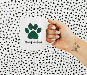Holiday Leopard Paw Mug - Designs By Wildside