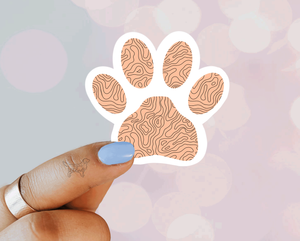 Peach Topography Paw - Designs By Wildside