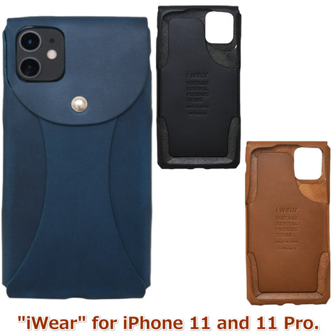 i Wear X for iPhone 11, 11 Pro Genuine Leather cover jacket