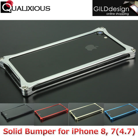 GILDdesign Solid Bumper Case for iPhone 8 /7 Machined Duralumin, Aluminium